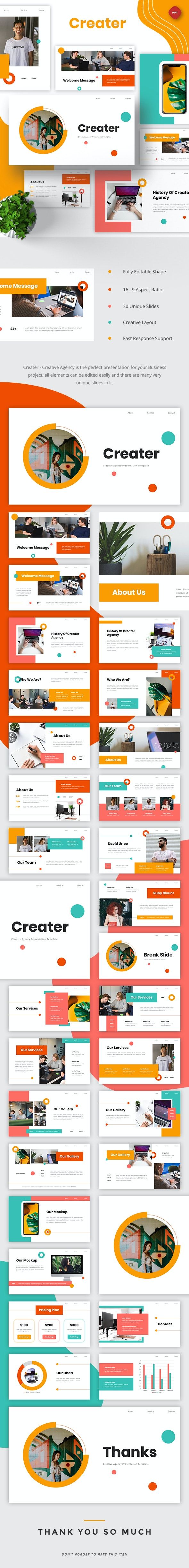Creater - Creative Agency Powerpoint - Business PowerPoint Templates