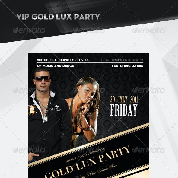 Gold Vip Lux Party Flyer / Poster