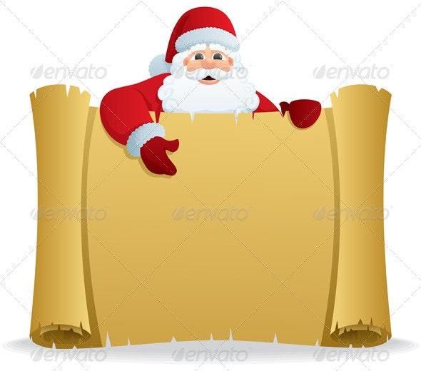 Santa Scroll - Characters Vectors