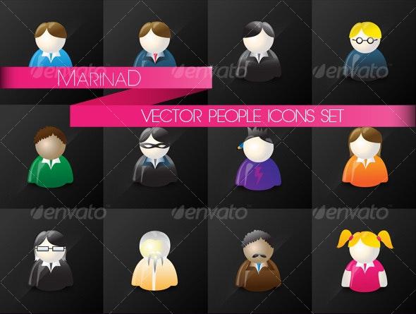 Vector People Icon Set - Web Elements