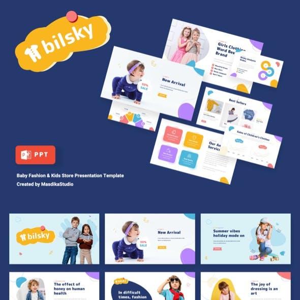 BILSKY - Baby Fashion & Kids Store Powerpoint Template
