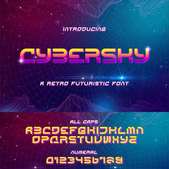 Cybersky - a Retro Futuristic Font