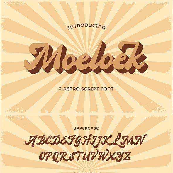 Moeloek – Retro Bold Display Script