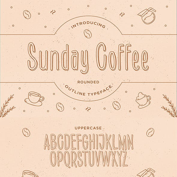 Sunday Coffee – Rounded Outline Typeface
