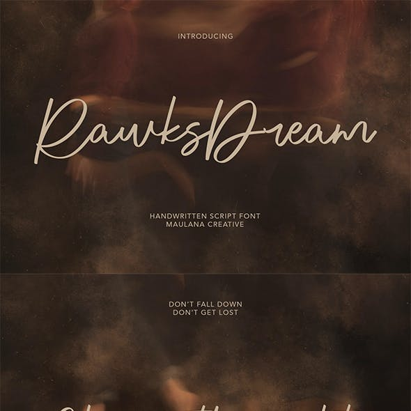Rawks Dream Handwritten Script Font