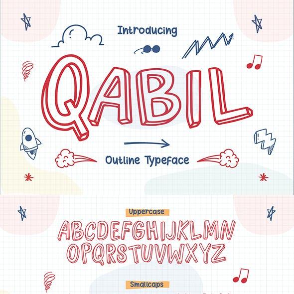 Qabil – Outline Typeface
