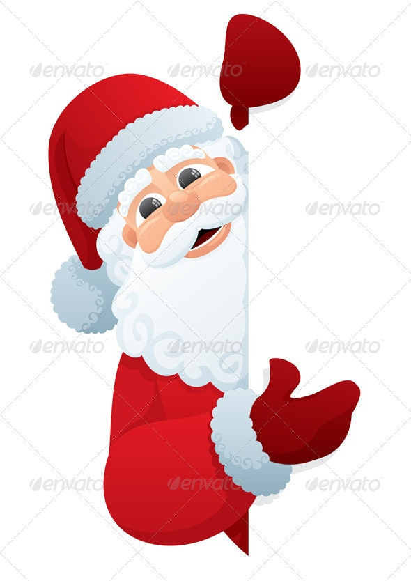 Santa Sign - People Characters