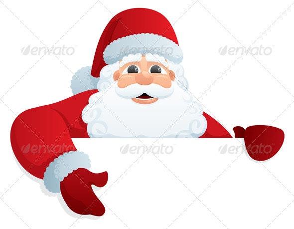 Santa Sign 2 - Christmas Seasons/Holidays