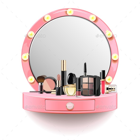 Vector Pink Dressing Table - Commercial / Shopping Conceptual