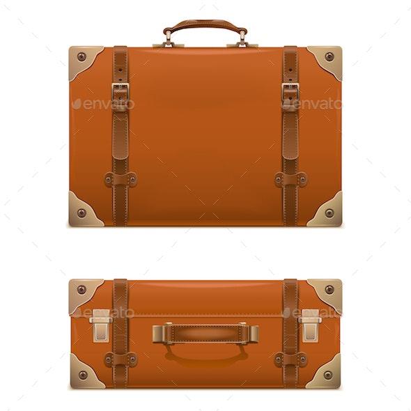 Vector Retro Baggage Icons - Travel Conceptual
