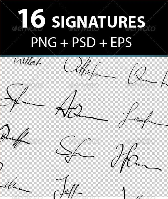 Placeholder Signatures  - Miscellaneous Backgrounds