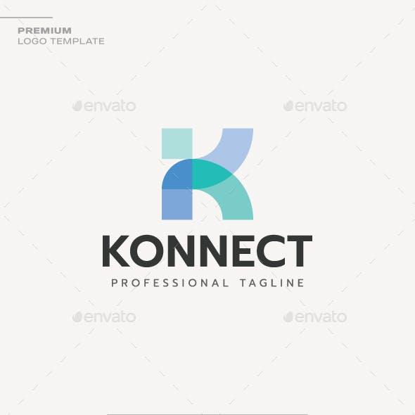 Letter K- Konnect Logo