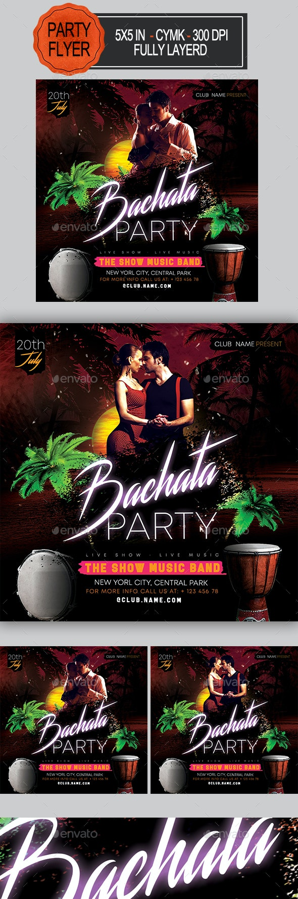 Bachata Party Flyer - Clubs & Parties Events