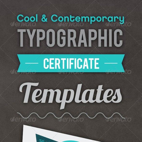 Typographic Certificate 2