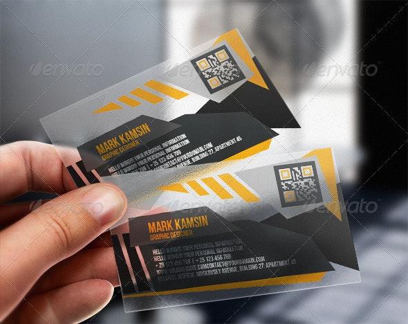 Transparent Angle Business Card - Creative Business Cards