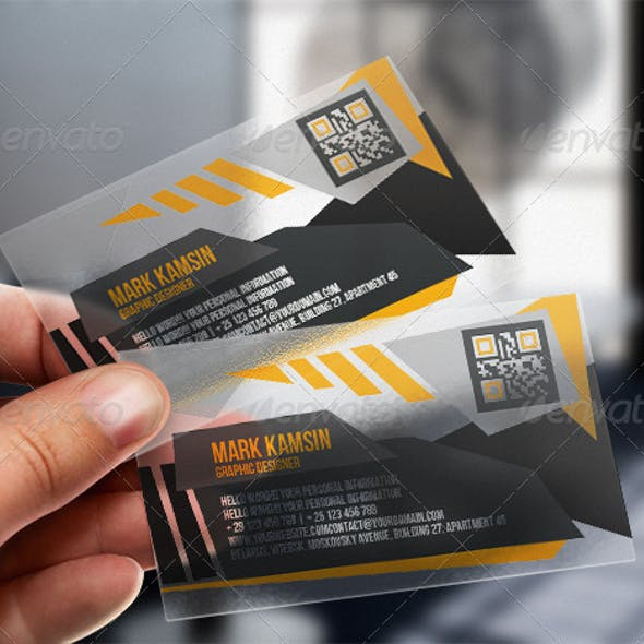 Transparent Angle Business Card