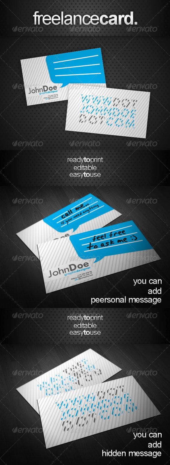 Simple Strife Card - Creative Business Cards