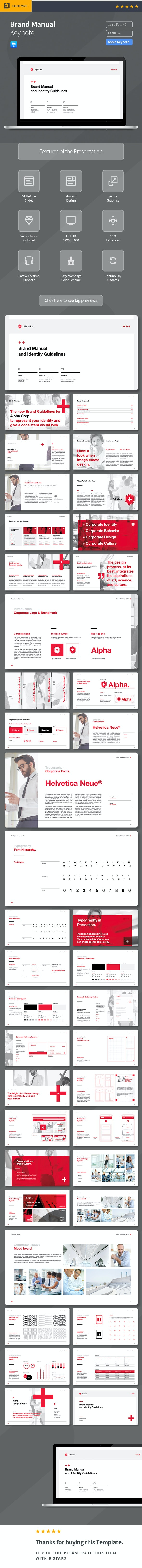 Brand Manual Keynote - Keynote Templates Presentation Templates