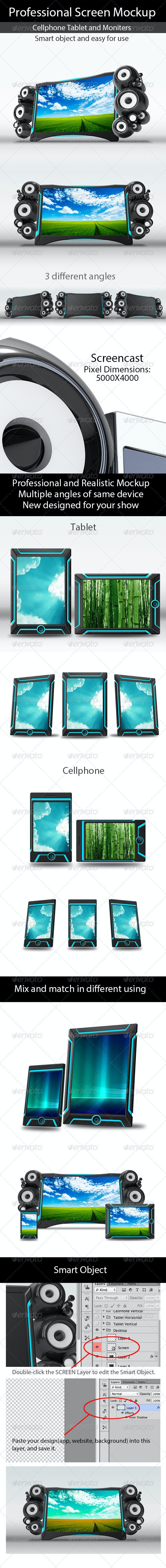 Professional Screen Mockup - Miscellaneous Displays