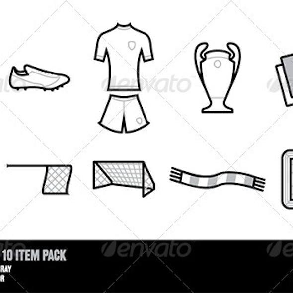 Football Soccer 10 Item Pack