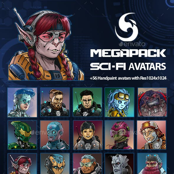 Sci-fi Avatars Mega Pack