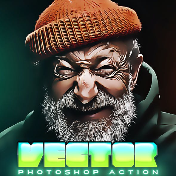 Vector Painting Deep Photoshop Action