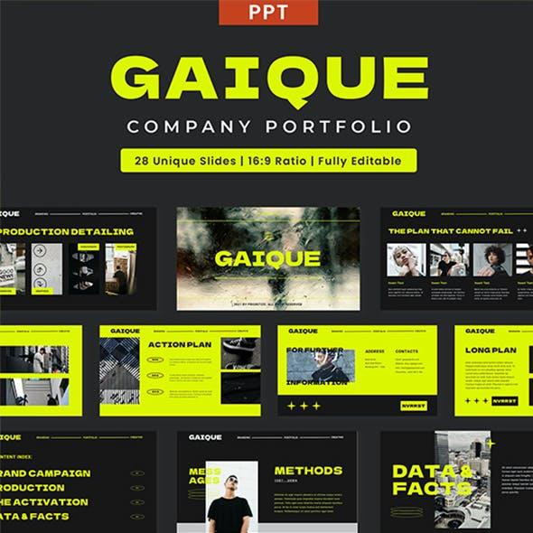 Gaique - Company Portfolio & Profile PPT Template