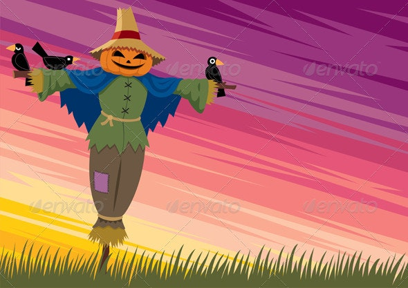 Scarecrow Background 2 - Backgrounds Decorative