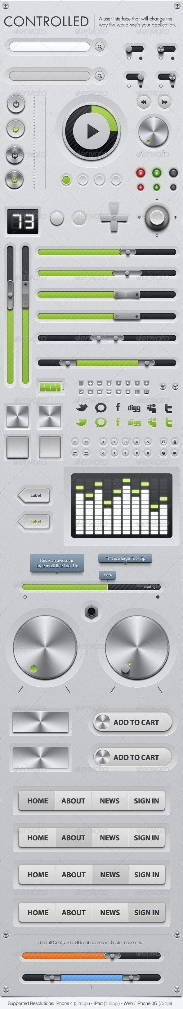 Controlled - GUi - Graphical User Interface - User Interfaces Web Elements
