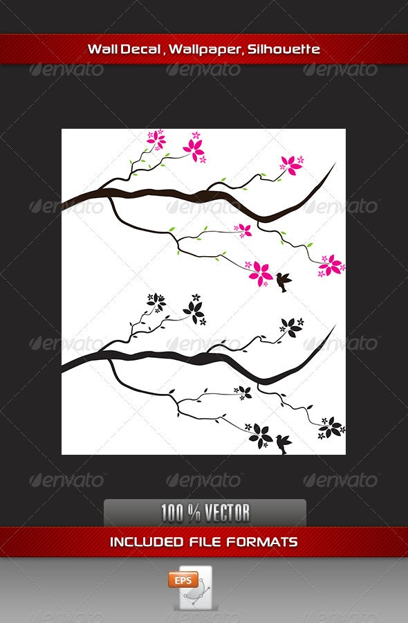 Flower Wall Decal - Flowers & Plants Nature