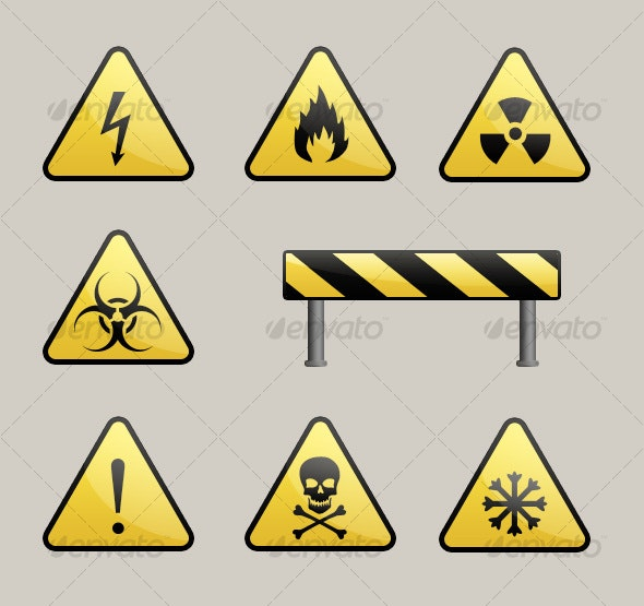 Warning Signs - Objects Illustrations