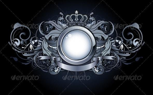 Heraldic frame - Borders Decorative