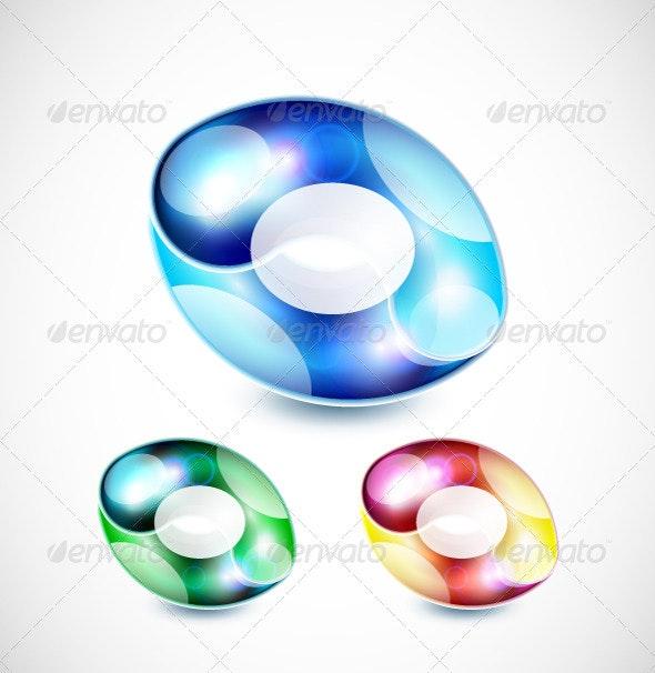 Shiny Abstract Shapes - Decorative Symbols Decorative