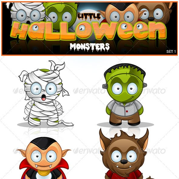 Little Halloween Monster's - Set 1