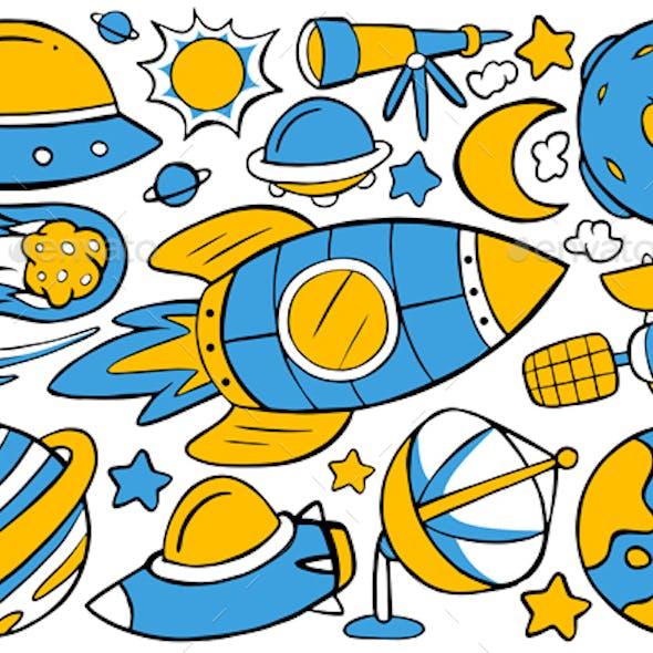 Space Doodle Vector #01