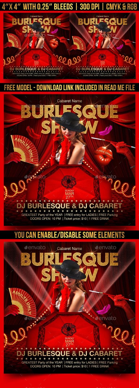 Burlesque Show Flyer - Clubs & Parties Events