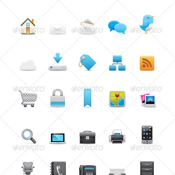 43 Vector Web Icons (Revive Series)