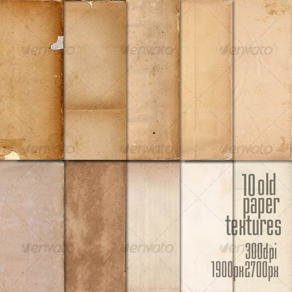 10 Old Paper Textures