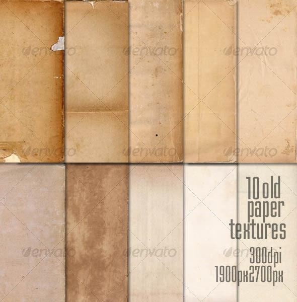10 Old Paper Textures - Paper Textures
