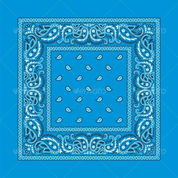 Bandana-2 (Colorful) - Flourishes / Swirls Decorative