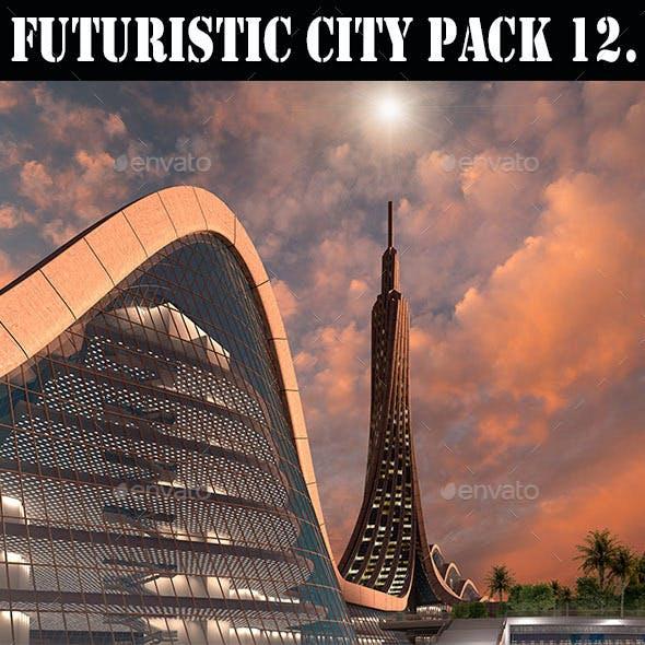 Futuristic City Pack 12. Organic Architecture