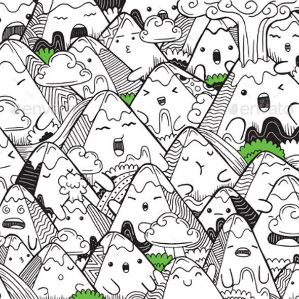 Cute Coloring for Kids with Mountain