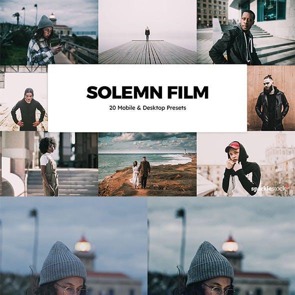 20 Solemn Film Lightroom Presets & LUTs