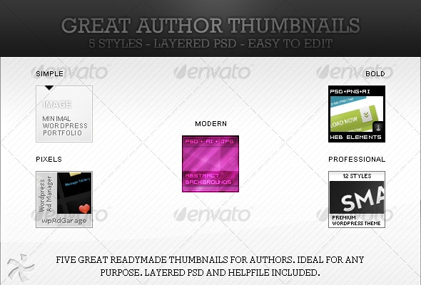 Great author thumbnails - Miscellaneous Graphics