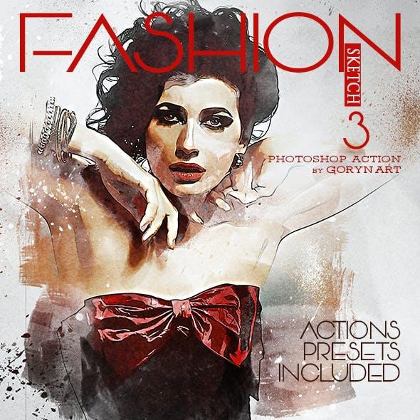Fashion Sketch 3 Photoshop Action