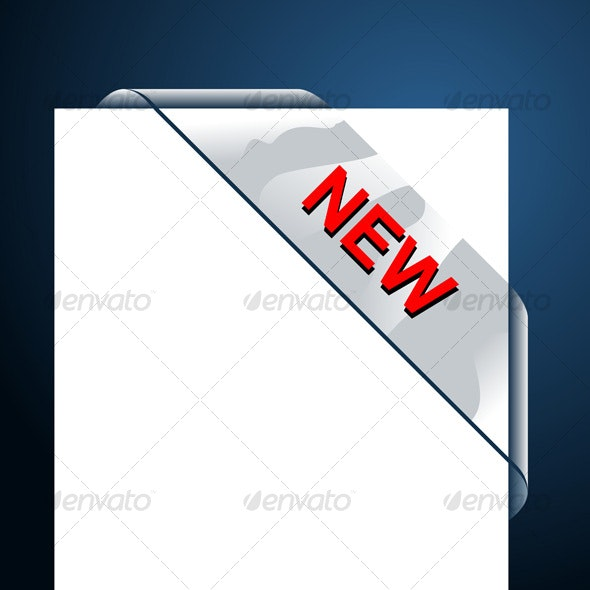 New Transparent Corner Business Ribbon - Decorative Symbols Decorative