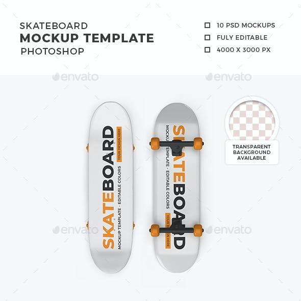 Skateboard Mockup Template Set