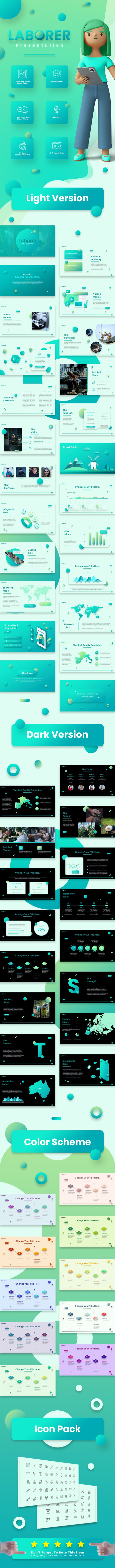 Laborer 3D Creative Keynote Template - Creative Keynote Templates