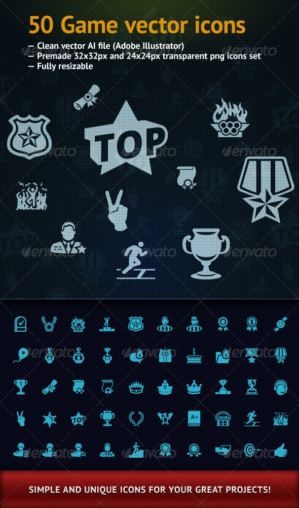 Game icons - Web Icons