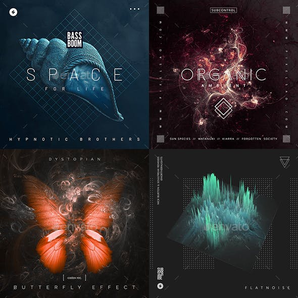 Music Album Cover Artwork Templates Bundle 64